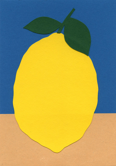 Handmade Paper Cut Out – Paper Lemon #3