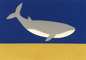Handmade Paper Cut Out – Paper Whale #3
