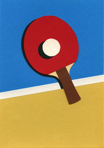 Handmade Paper Cut Out – Ping Pong Paper #3