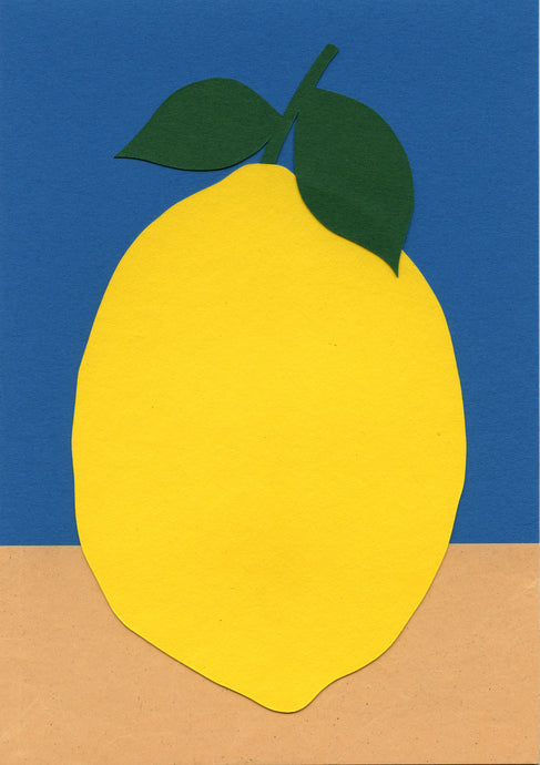Handmade Paper Cut Out – Paper Lemon #4