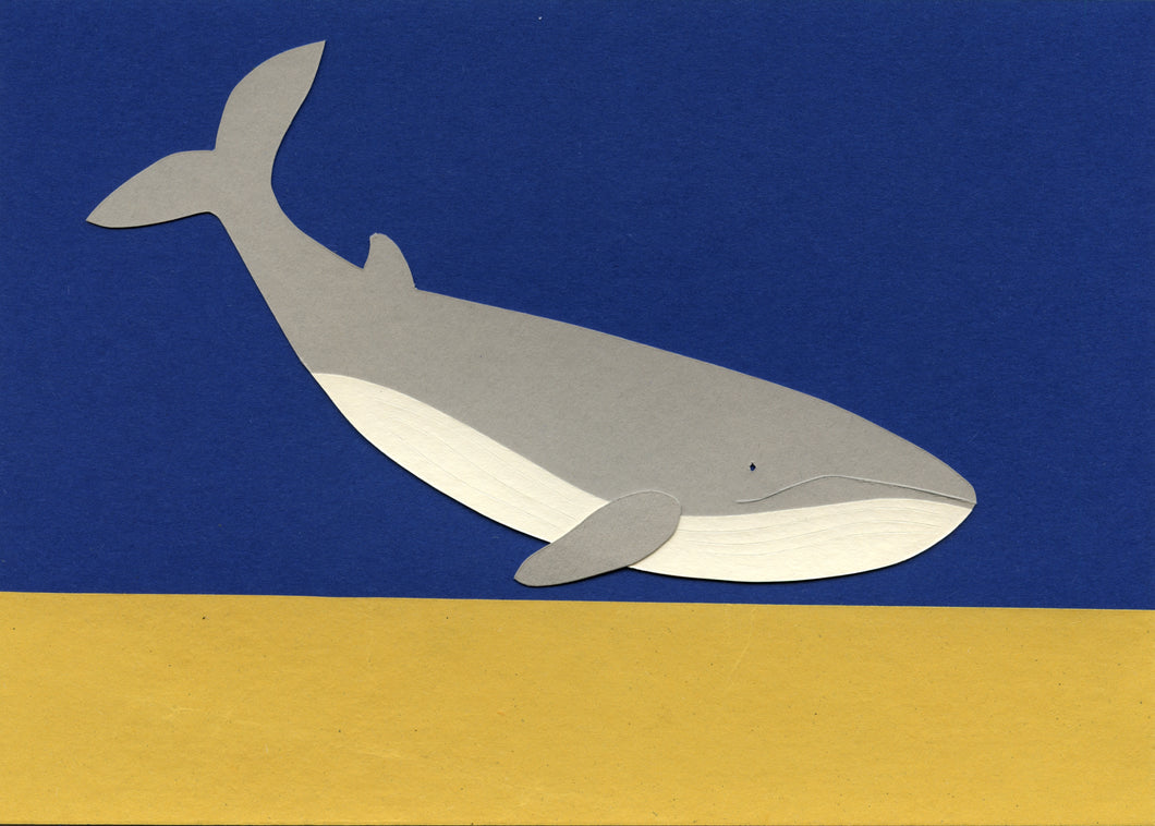 Handmade Paper Cut Out – Paper Whale #4