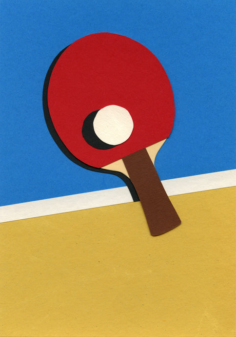 Handmade Paper Cut Out – Ping Pong Paper #4