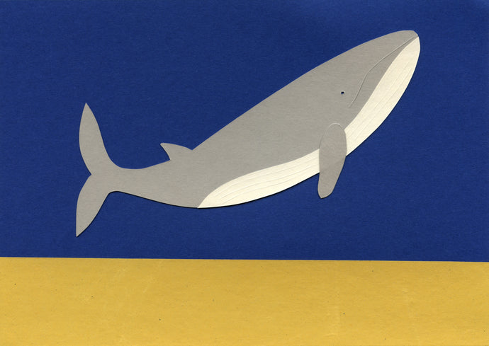 Handmade Paper Cut Out – Paper Whale #5