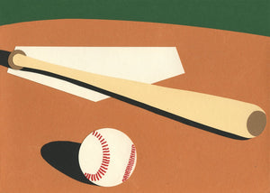 Handmade Paper Cut Out – LA Baseball Field