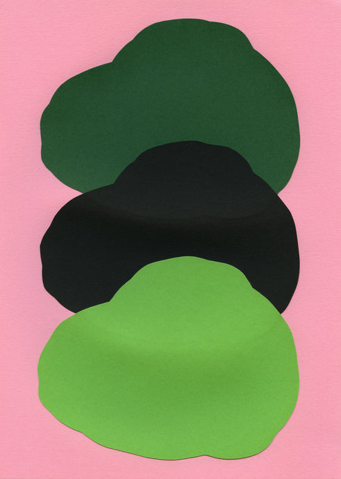 Dark Green, Black And Green On Pink