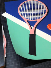 Load image into Gallery viewer, Handmade Paper Cut Out – Malibu Tennis Club