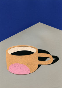 Cup Of Coffee Pink Dot