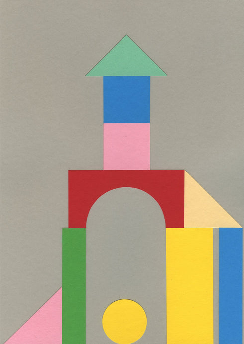 Handmade Paper Cut Out – Bauhaus Tower