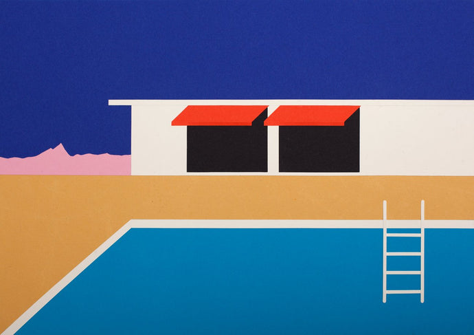 Handmade Paper Cut Out – Palm Springs Pool House II