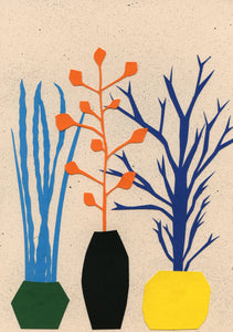Handmade Paper Cut Out – Plants And Pots
