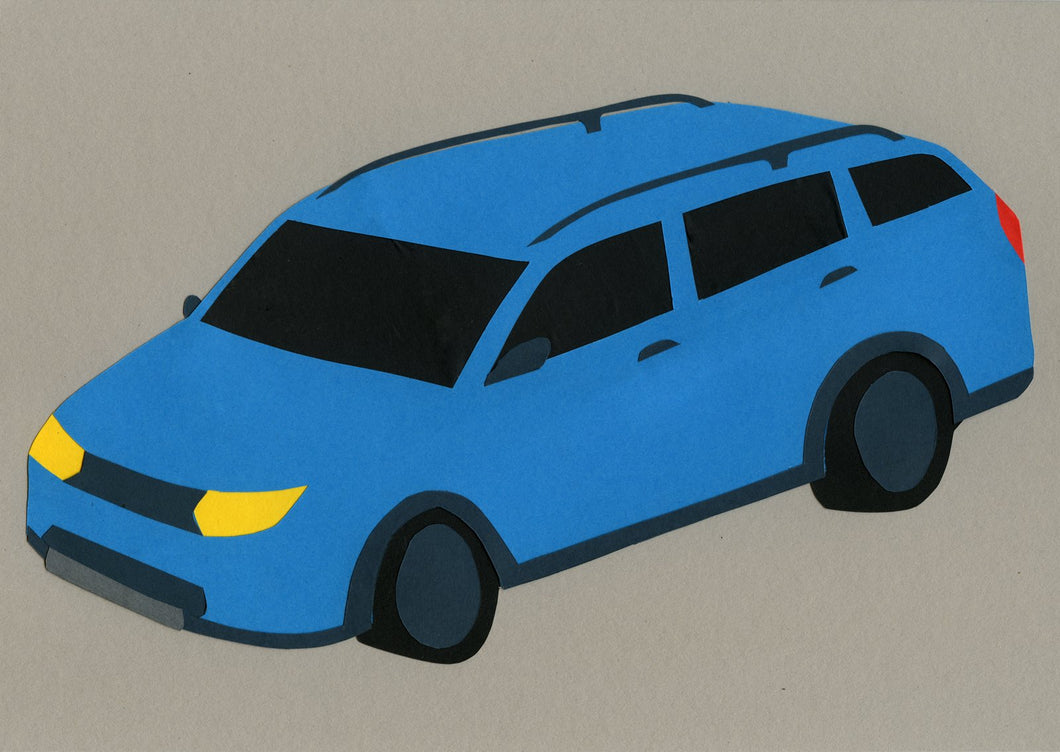 Light Blue Family Station Wagon
