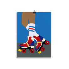 Load image into Gallery viewer, Poster Art Print Illustration - 70s Roller Girl