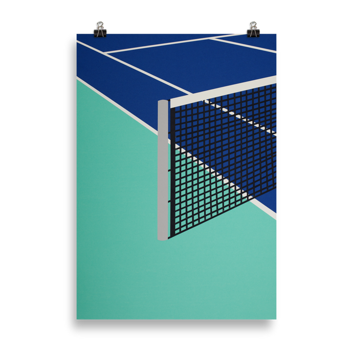 Poster Art Print Illustration – Arizona Tennis Club
