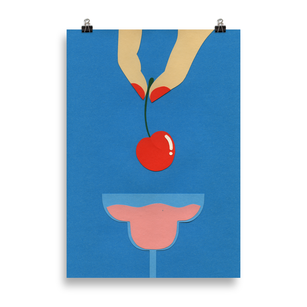 Poster Art Print Illustration - Cherry Nails II