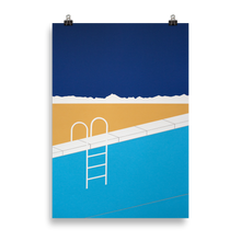 Load image into Gallery viewer, Poster Art Print Illustration - Desert Pool