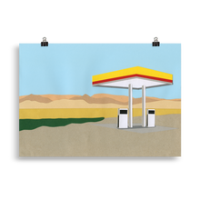 Load image into Gallery viewer, Poster Art Print Illustration – Gas Station Death Valley