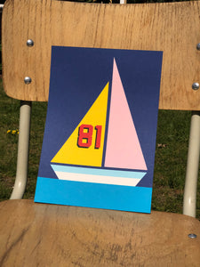 Handmade Paper Cut Out – Sailing Ship 81