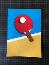 Load image into Gallery viewer, Handmade Paper Cut Out – Ping Pong Paper #1