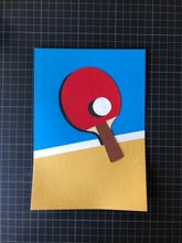 Load image into Gallery viewer, Handmade Paper Cut Out – Ping Pong Paper #2
