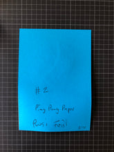 Load image into Gallery viewer, Ping Pong Paper #2