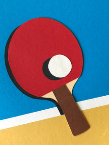 Handmade Paper Cut Out – Ping Pong Paper #2