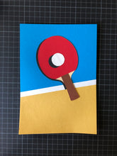 Load image into Gallery viewer, Handmade Paper Cut Out – Ping Pong Paper #3