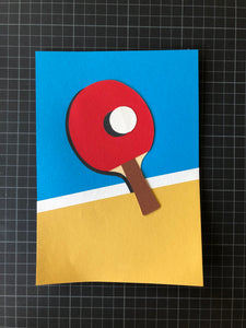 Handmade Paper Cut Out – Ping Pong Paper #5