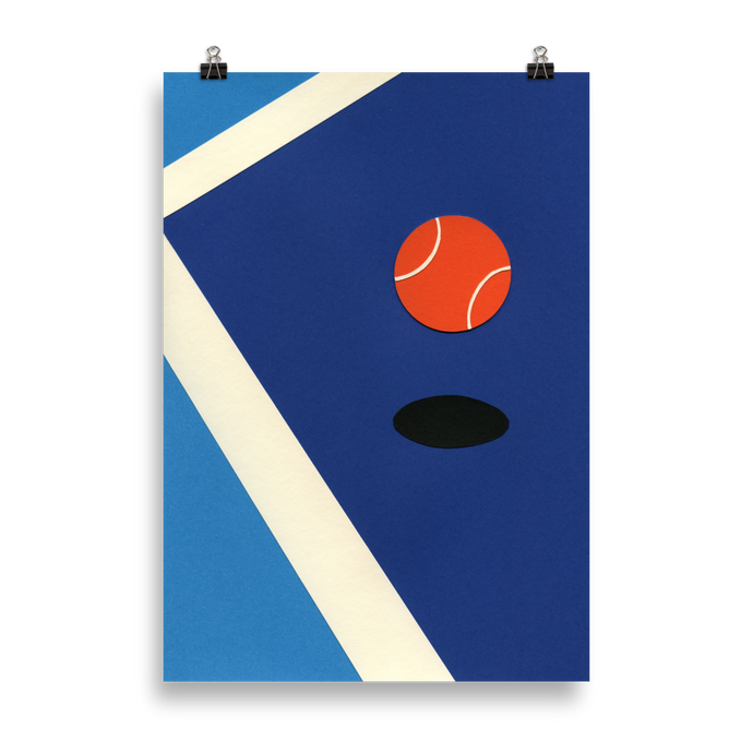 Poster Art Print Illustration – Jumping Tennis Ball