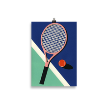 Load image into Gallery viewer, Poster Art Print Illustration – Malibu Tennis Club
