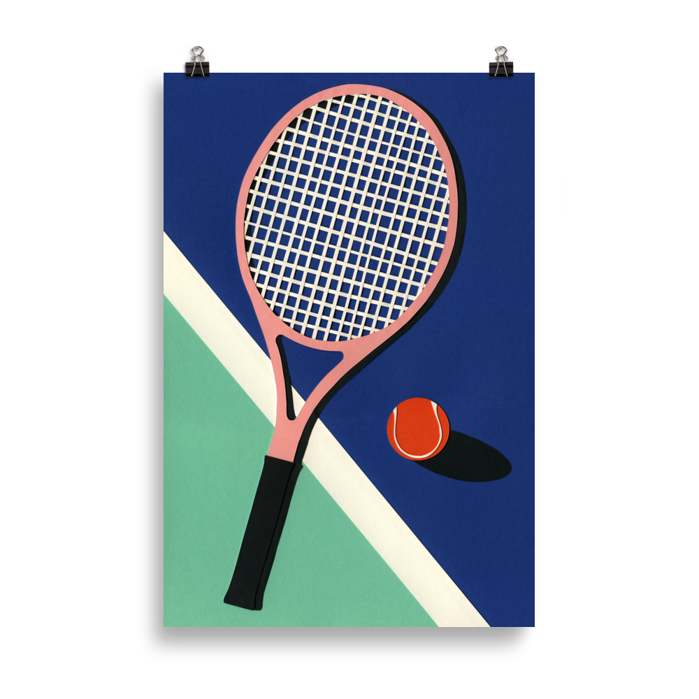 Poster Art Print Illustration – Malibu Tennis Club