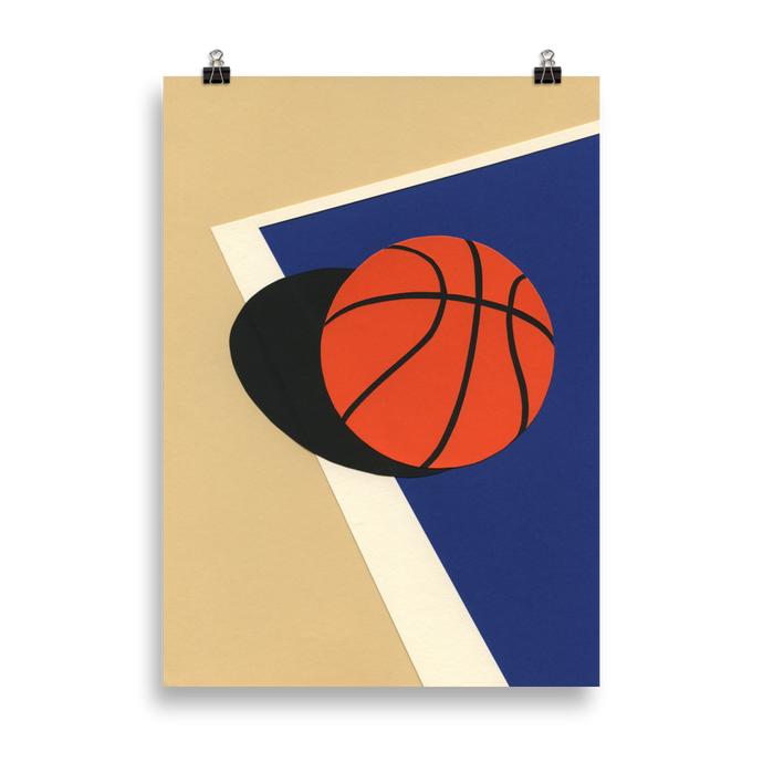 Poster Art Print Illustration – Oakland Basketball Team