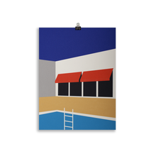 Load image into Gallery viewer, Poster Art Print Illustration – Palm Springs Pool House