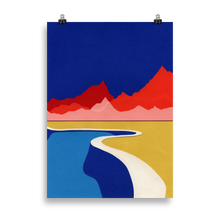 Load image into Gallery viewer, Poster Art Print Illustration – Red Hills Desert Pool
