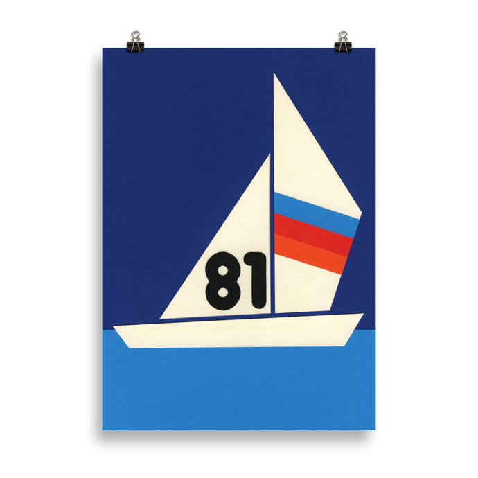 Poster Art Print Illustration – Sailboat 81