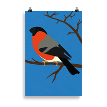 Load image into Gallery viewer, Poster Art Print Illustration – Bullfinch On A Tree