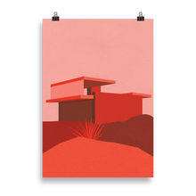 Load image into Gallery viewer, Poster Art Print Illustration – Kaufmann Desert House Red Edition