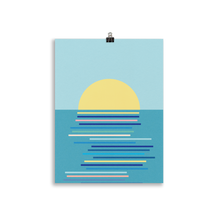Load image into Gallery viewer, Poster Art Print Illustration – Sunrise in Ahrenshoop
