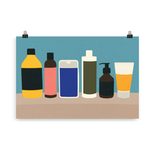 Load image into Gallery viewer, Poster Art Print Illustration – Plastic Bottles