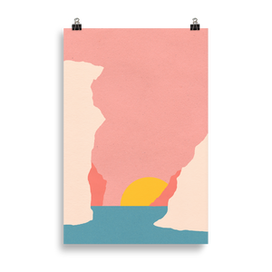 Poster Art Print Illustration – Sunset Of Crete