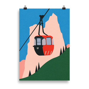 Poster Art Print Illustration – Allgäu Alps