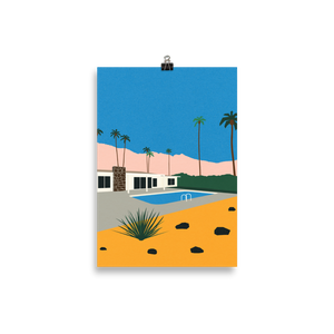Poster Art Print Illustration – Palm Springs Bungalow