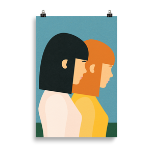 Poster Art Print Illustration – Two Sisters