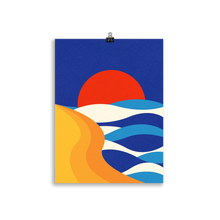 Load image into Gallery viewer, Poster Art Print Illustration – Sunset At The Beach