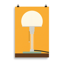 Load image into Gallery viewer, Poster Art Print Illustration – Bauhaus Table Lamp Wagenfeld WG24