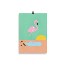 Load image into Gallery viewer, Poster Art Print Illustration – Flamingo Herbert