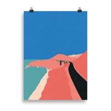 Load image into Gallery viewer, Poster Art Print Illustration – Pacific Coast Highway Big Sur