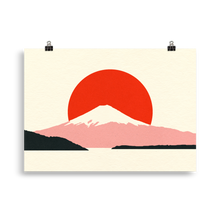 Load image into Gallery viewer, Poster Art Print Illustration – Fuji Sun