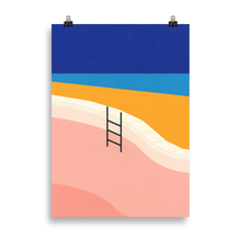 Load image into Gallery viewer, Poster Art Print Illustration – Pool By The Ocean