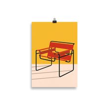 Load image into Gallery viewer, Poster Art Print Illustration – Marcel Breuer Wassily Chair