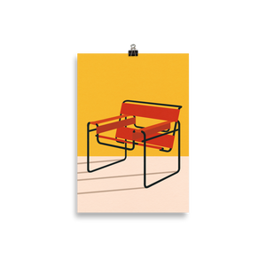 Poster Art Print Illustration – Marcel Breuer Wassily Chair